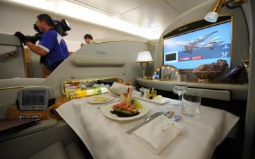 Restaurant in vliegtuig